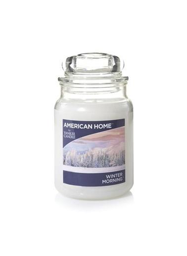 LWP Shop Yankee Candle Winter Morning Orta Boy Mum Yasemin ve Sümbül Kokulu Beyaz